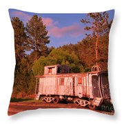 Old Train Caboose Throw Pillow