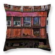 Old Train Car Throw Pillow
