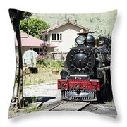 Old Train Engine Throw Pillow