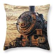 Old Train Still In Light Throw Pillow
