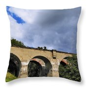 Old Train Viaduct In Poland Throw Pillow