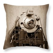 Old Trains Throw Pillow