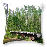 Old Tramway In Canyon City  Miles Canyon Trail Near Whitehorse-yk Throw Pillow