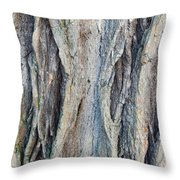 Old Tree Wrinkles Throw Pillow