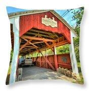 Old Trostle Town Bridge Throw Pillow