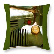 Old Truck Abstract Throw Pillow