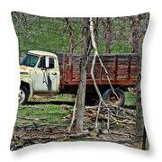 Old Truck At Rest Throw Pillow