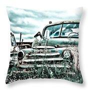 Old Truck - Cool Glaze Throw Pillow