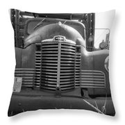 Old Truck Grill Throw Pillow