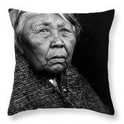 Old Twana Woman Circa 1913 Throw Pillow by Aged Pixel