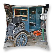 Old Tyme Auto Shop Throw Pillow