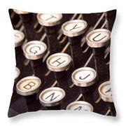 Old Typewriter Keys Throw Pillow
