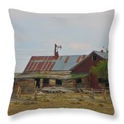 Old Vacant Country Property Throw Pillow