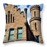 Old Vanderburgh County Jail Throw Pillow