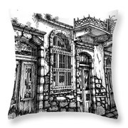 old Venetian doors Throw Pillow