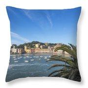 Old Village Sestri Levante Throw Pillow