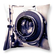 Old Vintage Press Camera  Throw Pillow