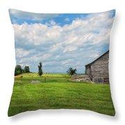 Old Virginia Barn Throw Pillow