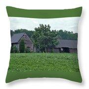 Old Virginia Barns Throw Pillow