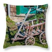 Old Wagon Throw Pillow