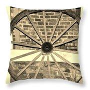 Old Wagon Wheel 1 Throw Pillow