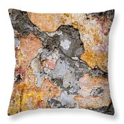Old Wall Abstract Throw Pillow