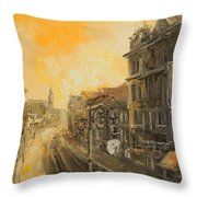 Old Warsaw - Marszalkowska Throw Pillow