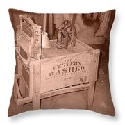 Old Washer Throw Pillow