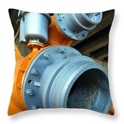 Old Wastewater Equipment Throw Pillow