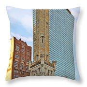 Old Water Tower Chicago Throw Pillow