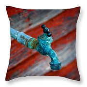 Old Water Valve Throw Pillow