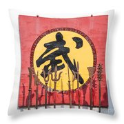 Old Weapons Used By Chinese Shaolin Warriors Pingyao China Throw Pillow
