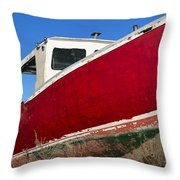 Old Weathered Boat Throw Pillow