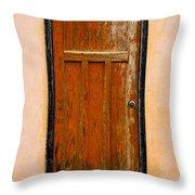 Old Weathered Door Throw Pillow
