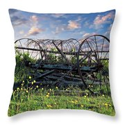 Old Weathered Plow Throw Pillow