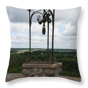 Old Well Chateau Chaumont Throw Pillow