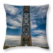 Old Welland Lift Bridge 3d07057hp Throw Pillow