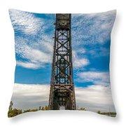 Old Welland Lift Bridge  Throw Pillow