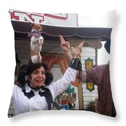 Old West Canine Show Patriotic Dog Pinal County Fair Eleven Mile Corner Arizona 2005 Throw Pillow