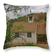 Old West Church In The Desert Throw Pillow