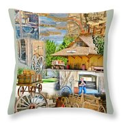 Old West Collage Throw Pillow