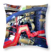 Old West Fire Wagon Throw Pillow