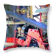 Old West Fire Wagon V2 Throw Pillow
