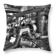 Old West Fire Wagon V4 Throw Pillow