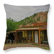 Old West Homestead Throw Pillow