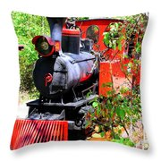 Old West Locomotive 2 Throw Pillow