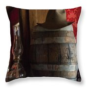 Old West Saloon Throw Pillow by Juli Scalzi