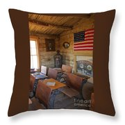 Old West School House Throw Pillow
