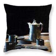 Old West Table Setting Throw Pillow