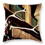 Old West Trimmings Throw Pillow